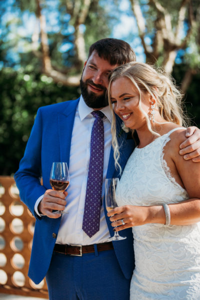 Bride and groom at Cline Cellars, one of Sonoma wedding venues