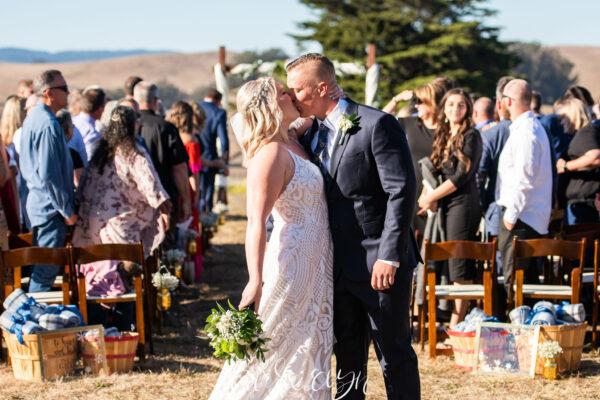 Rustic wedding ceremony in West Marin