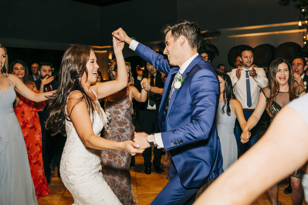 Bride and groom dancing the night away!