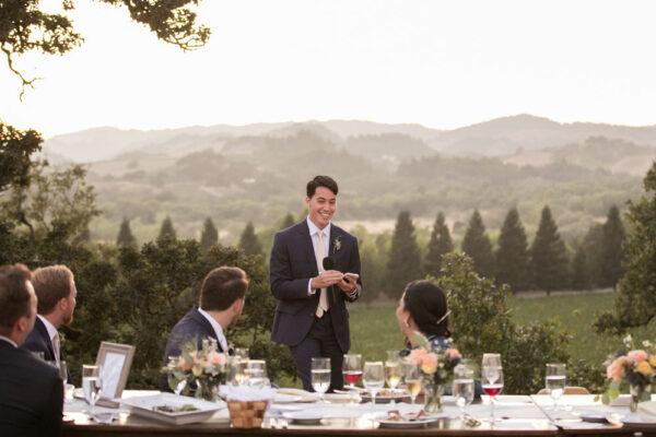 Intimate wedding reception toasts