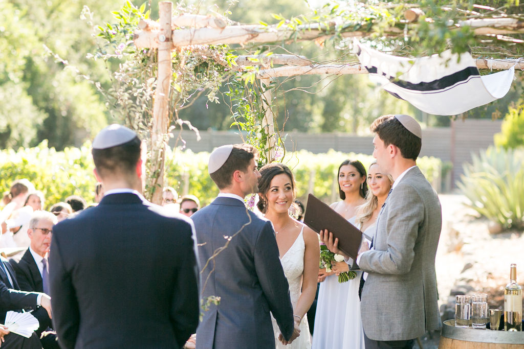 Libby & John's Jewish wedding ceremony at Calistoga Ranch wedding