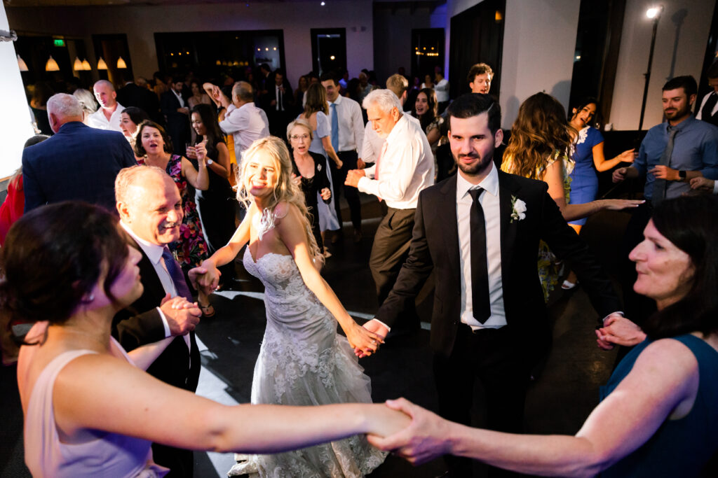 Packed dance floor at Napa Valley wedding!