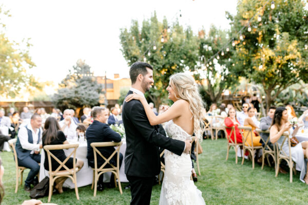 First Dance on the lawn at Tre Posti