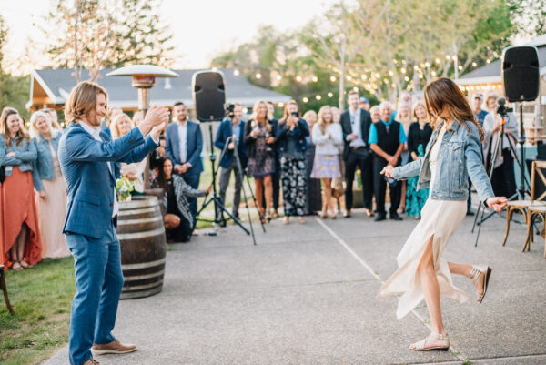 First dance at private estate wedding