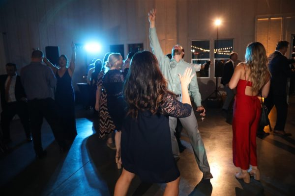 Fun on the dance floor at this wine country wedding!