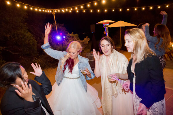 Bride on dance floor at wine country wedding