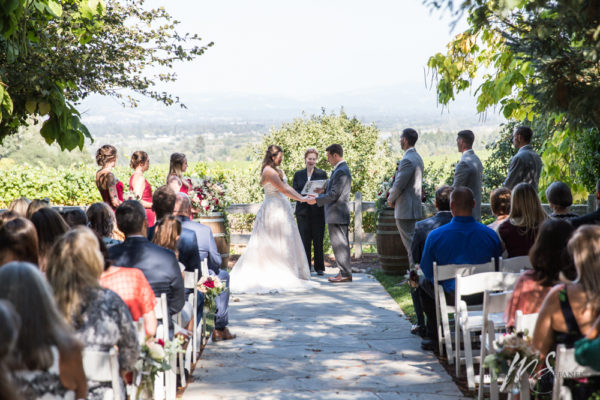 Outdoor Wedding Ceremony in the Wine Country