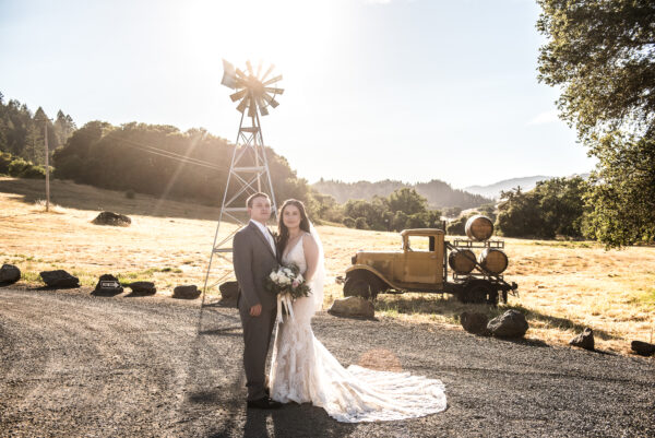 Bride and Groom at Northern California wedding venue