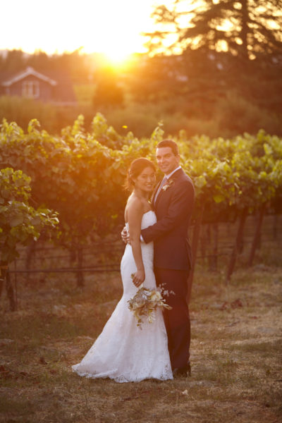 Emily & Dan at their Winery Wedding at Vine Hill House